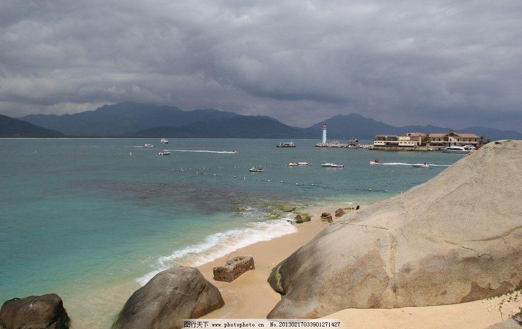 分界洲岛远观 海岸线 礁石