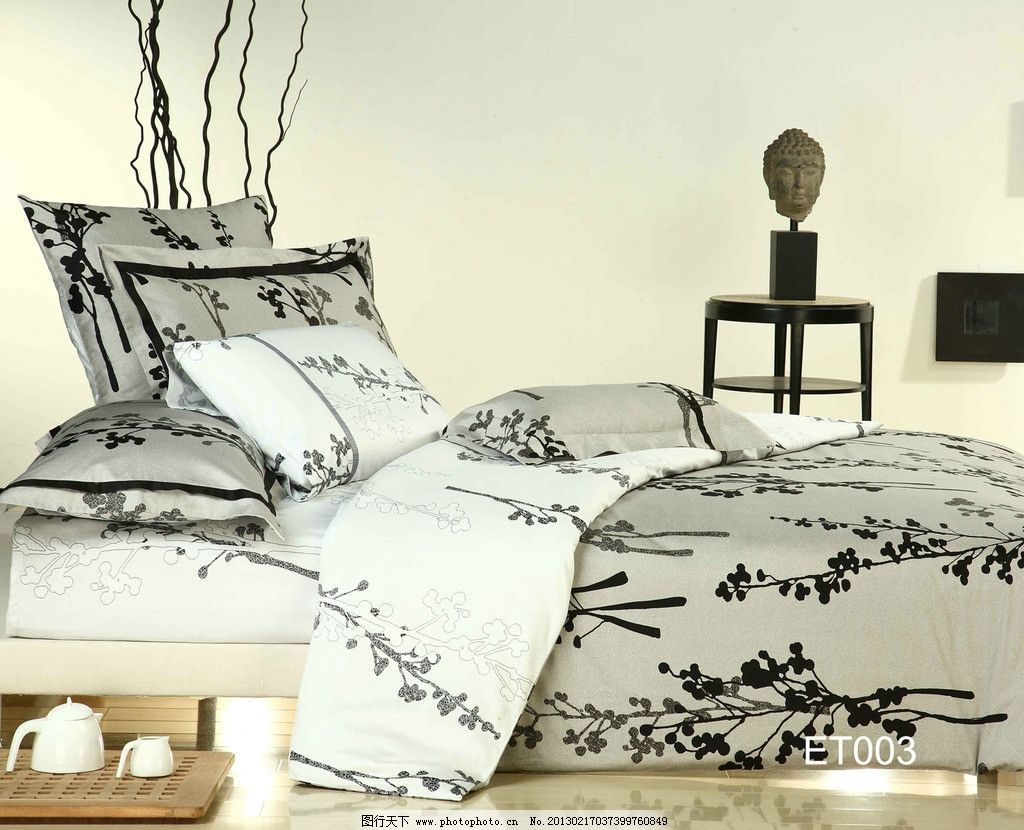elle ELLE 家纺 床 四件套 被子 枕头 室内 卧室 花纹