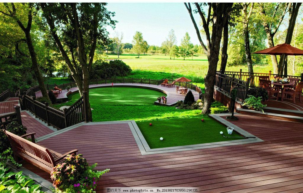 绿色庭院别墅图片_园林建筑