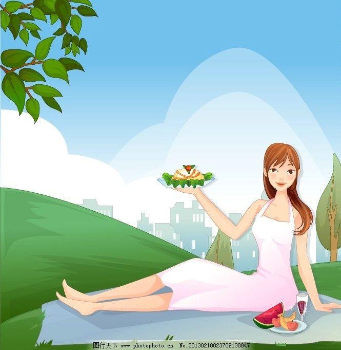 运动美女 健身 矢量人物 卡通素材 矢量风景 矢量动物 彩铅画