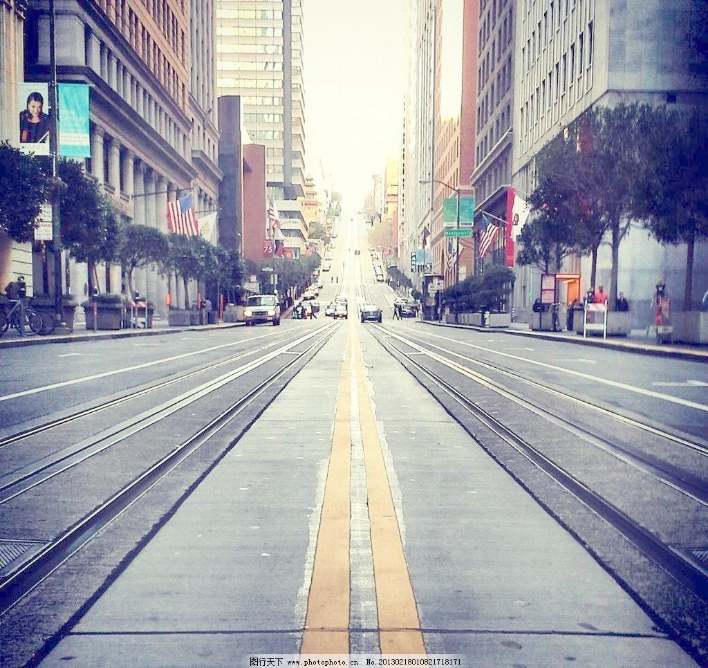 欧式街道背景图片