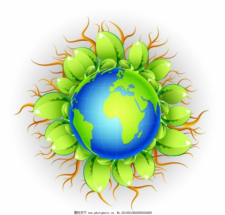 绿色地球环保背景图片