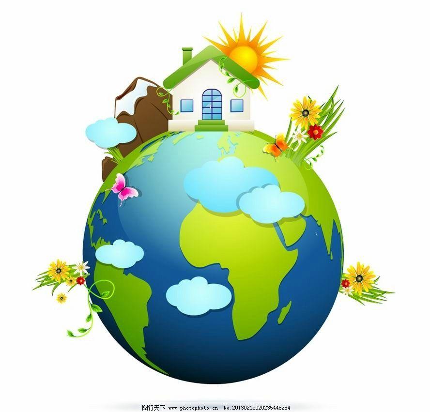 绿色的地球简笔画 绿色的地球图片欣赏