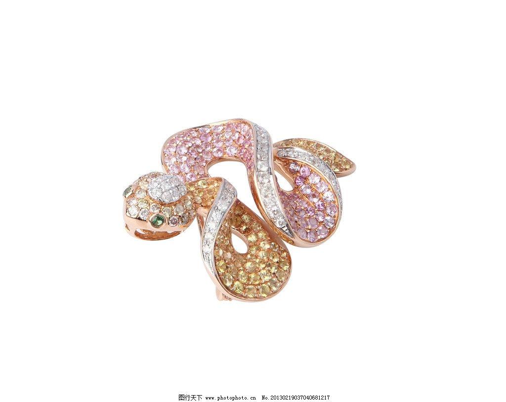 十二生肖 蛇 钻石 动物 珠宝类摄影 生活素材