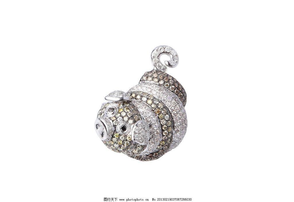 十二生肖 猪 钻石 动物 珠宝类摄影 生活素材 生活百科 摄影 350dpi