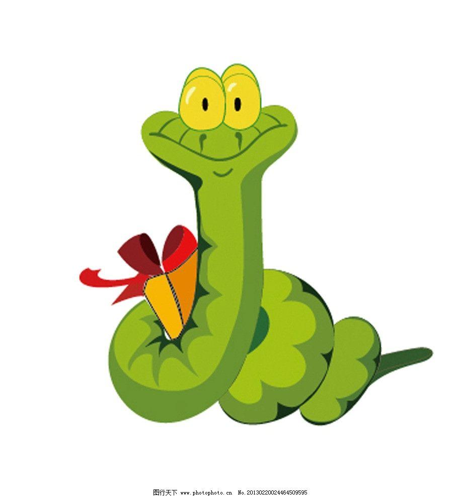 生肖蛇 礼物 生肖 绿色的蛇 野生动物 生物世界 矢量 ai