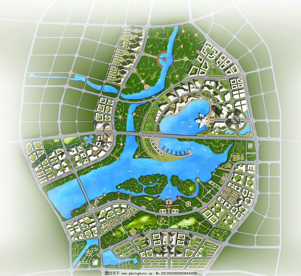 平面图 规划设计 彩色总平面 景观绿化 总平面填色 其他设计 环境设计