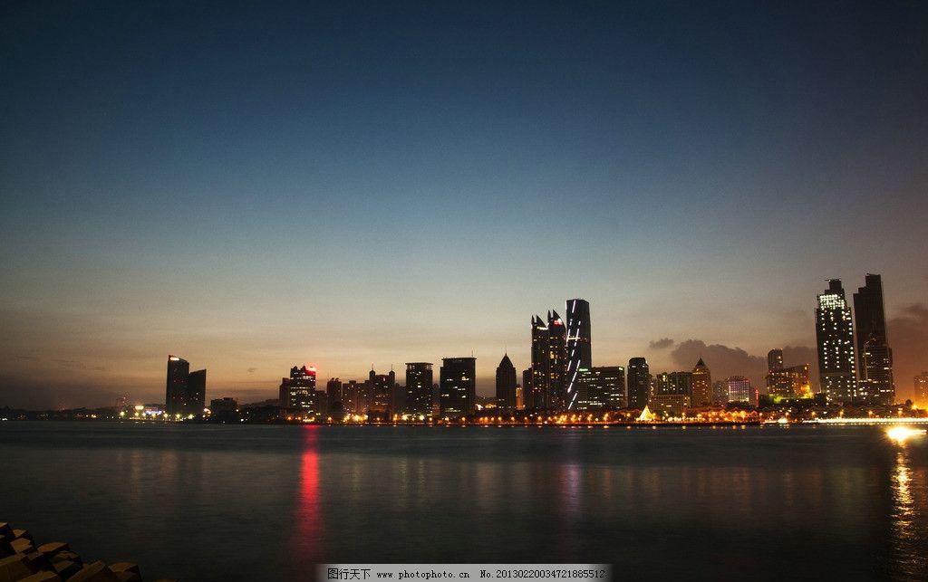 青岛夜景 现代摄影 城市风光