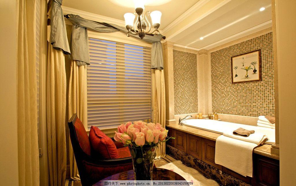 欧式洗澡间 欧式装修 欧式风格 豪华装修 尊贵 房地产样板房 别墅样板