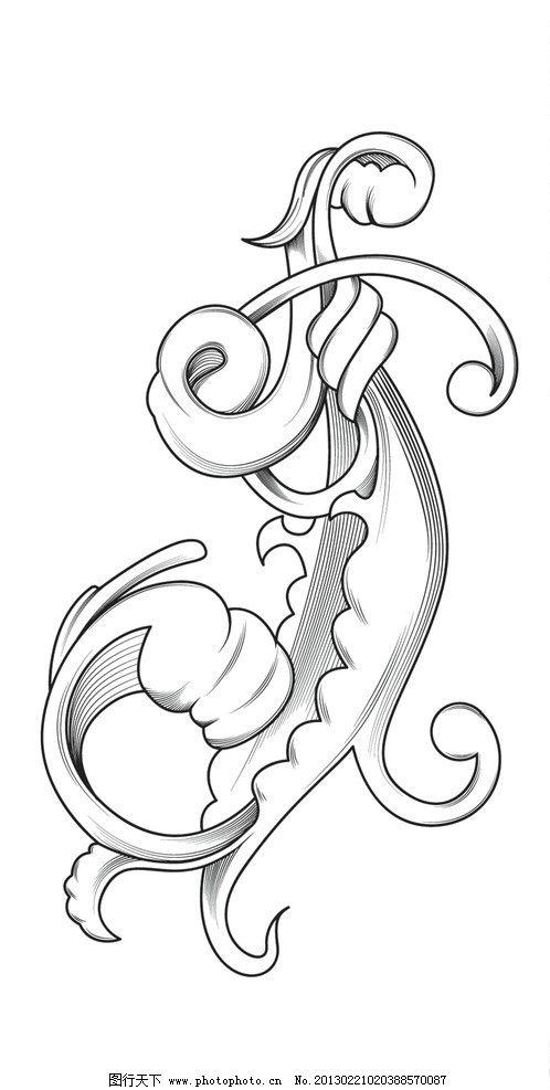 古典花纹 花纹 底纹 欧式 植物 叶子 手绘 藤蔓 花纹花边 底纹边框 矢