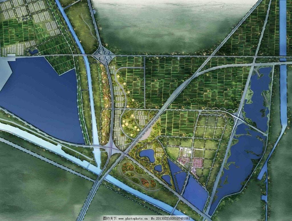 现代农业园区规划 农业 园区 平面 城市设计 景观设计 环境设计 设计