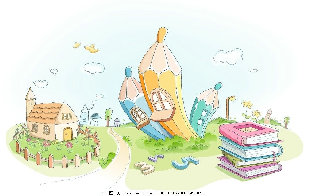 卡通素材 彩铅画 水彩画 版画 手绘 速写 系列图案 线条 漫画 全矢量