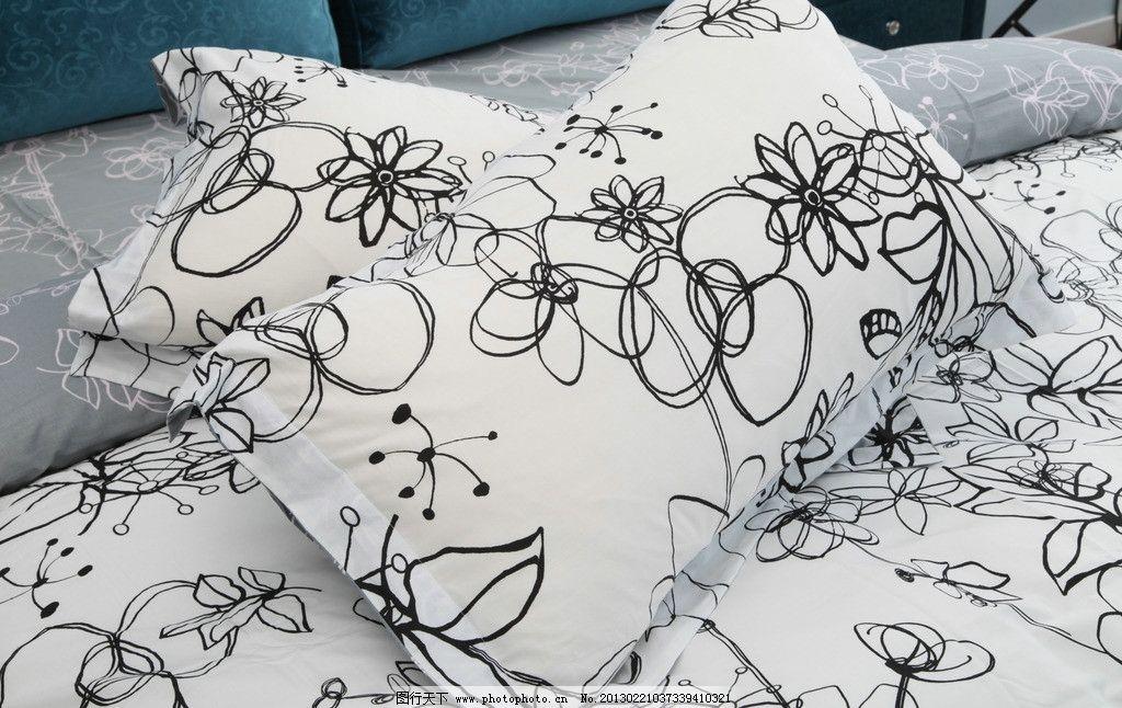 室内手绘线稿单体枕头