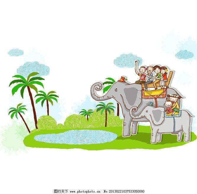 动物园 大象 骑大象 游动物园