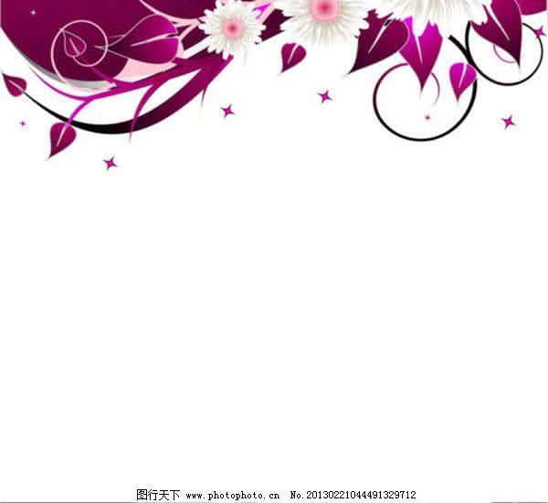 美丽的花边PPT2
