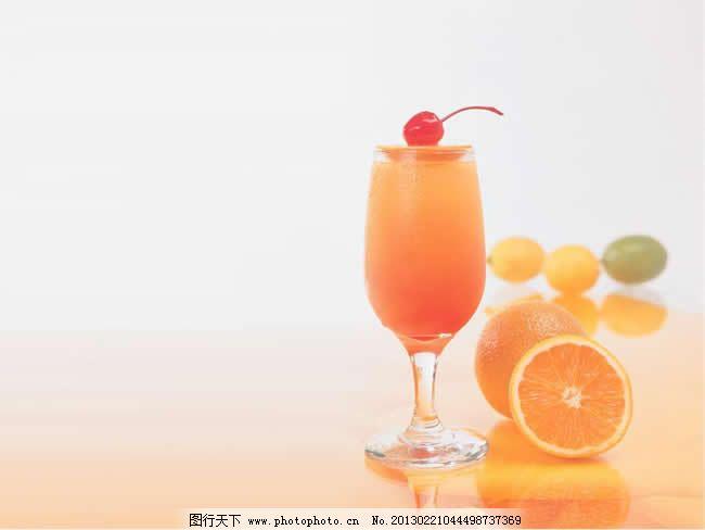 鲜橙饮品背景ppt模板