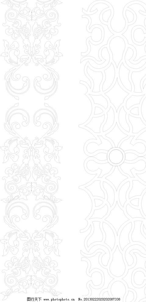 欧式 花纹 对称 图案 影视墙 玻璃雕花 木雕花 底纹背景 底纹边框