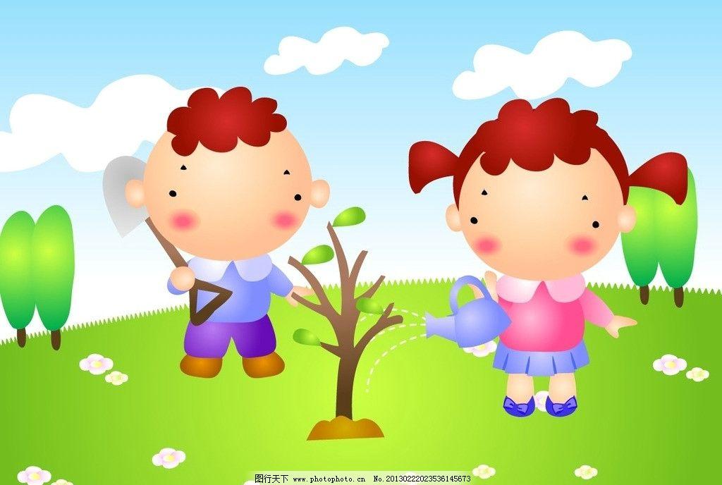 幼儿创意画植树