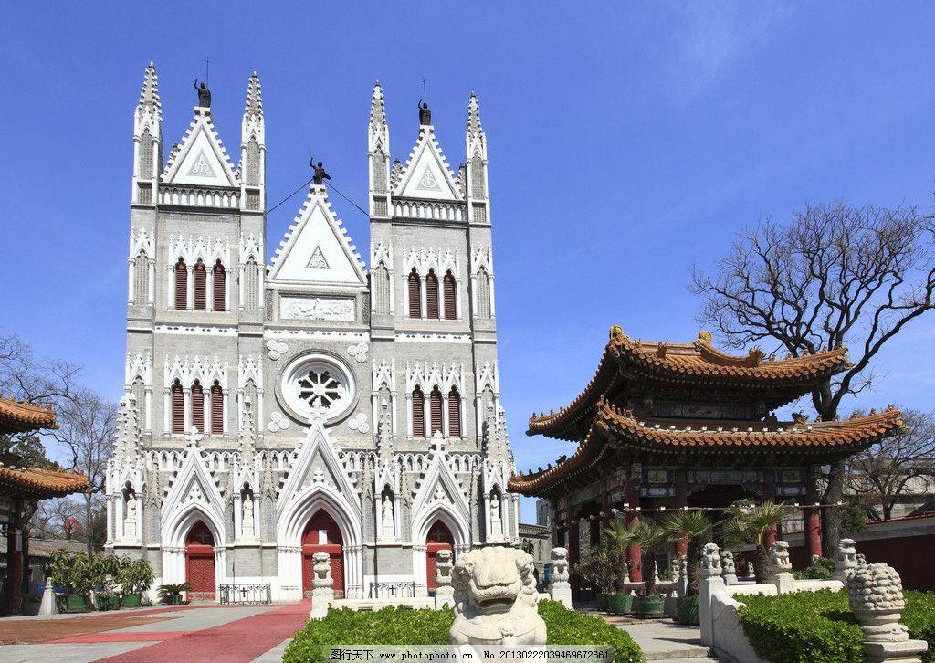 北京教堂 教堂 华丽 建筑