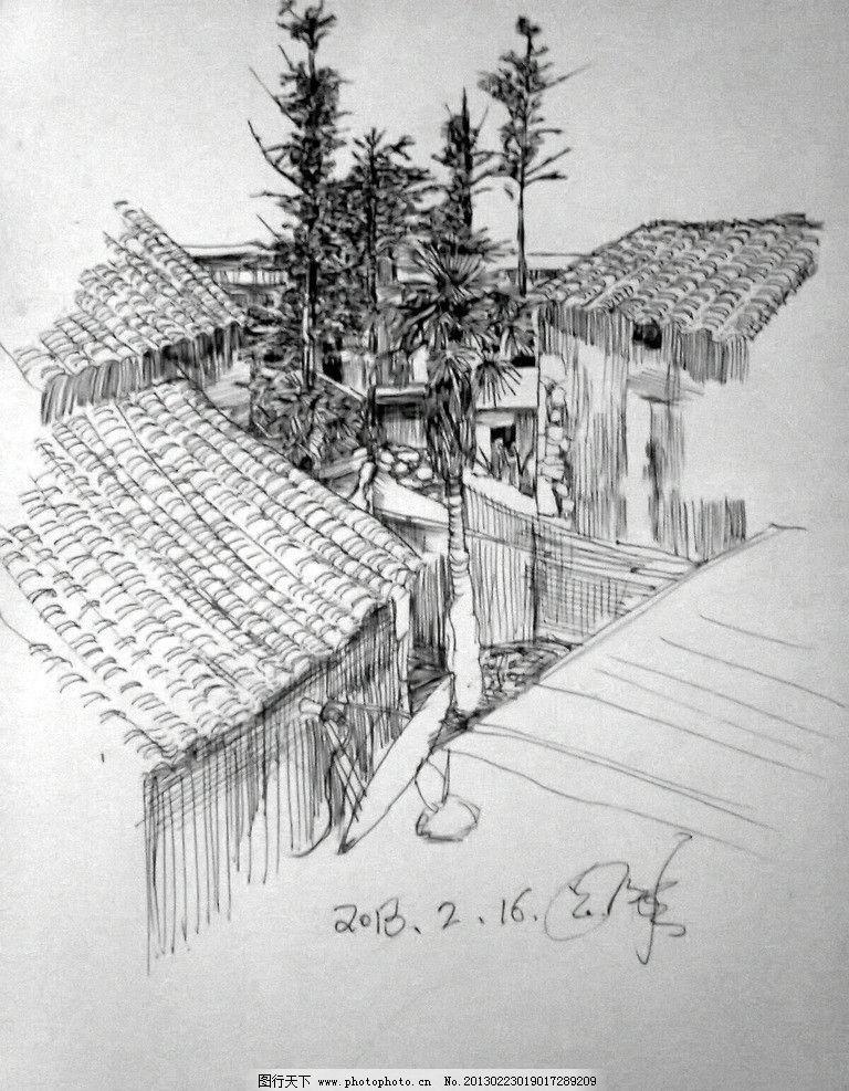 郑涛钢笔画 钢笔画 景观手绘 贵州师范大学求是学院 绘画书法 文化