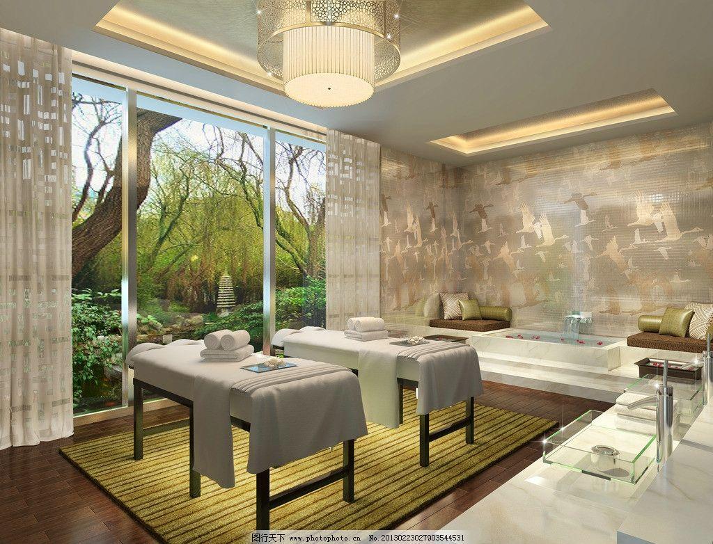 酒店理疗室 理疗间 按摩床 spa 计效果图 装饰设计 装潢设计效果图 3d