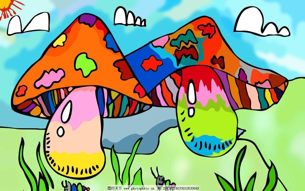 卡通小蘑菇图片