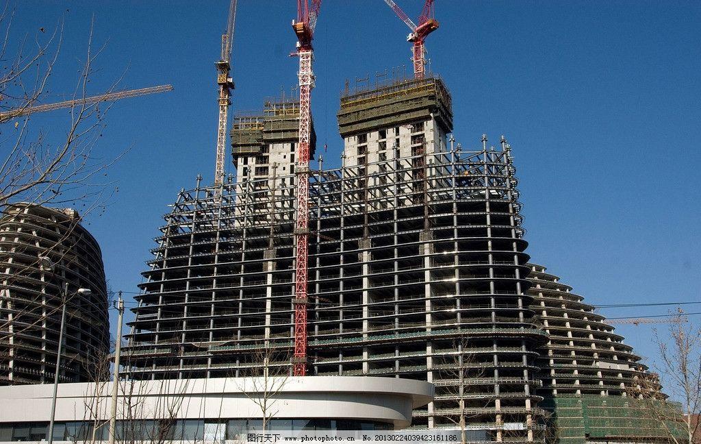 高层施工工地 建筑施工 高层施工 塔吊 吊塔 塔吊施工 塔吊施工现场