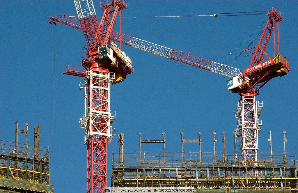 塔吊施工 建筑施工 高层施工 塔吊 吊塔 塔吊施工现场 高层建筑施工