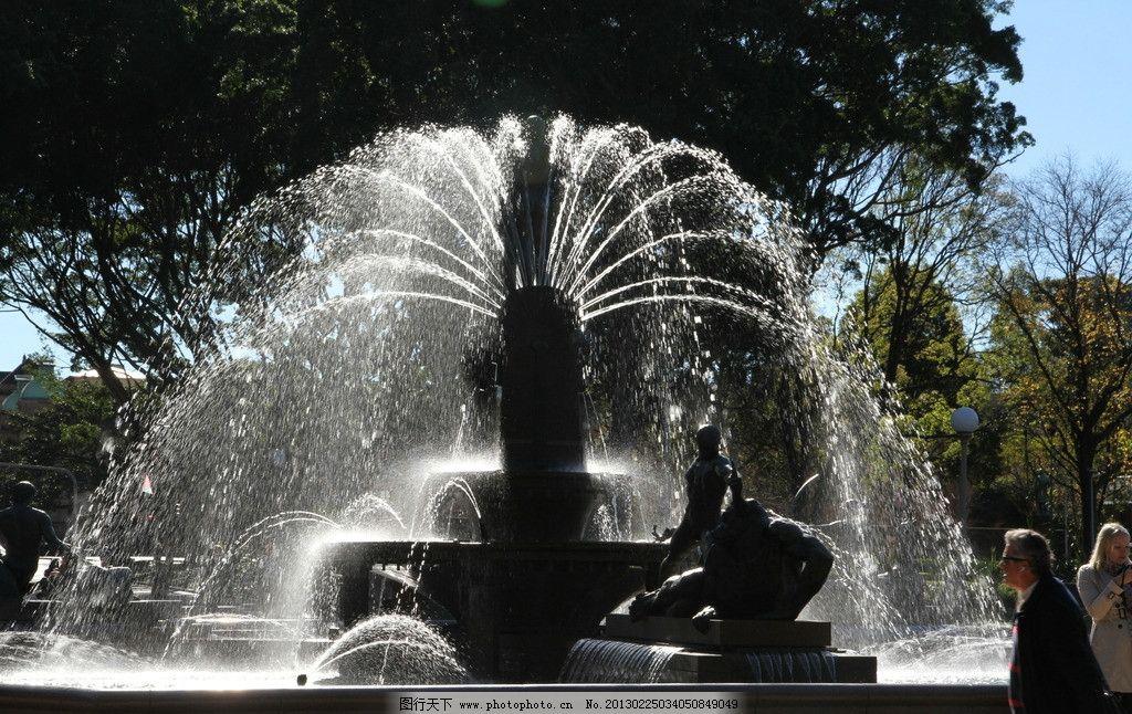 悉尼雕像喷泉图片