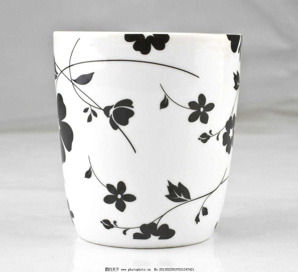 印花水杯 杯子 烤瓷杯 白底杯 印花杯 花边杯 水杯 素材 摄影 摄影图