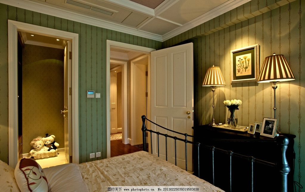 欧式装修 欧式卧室 印书品 房地产样板间 房地产样板房 样板房 房屋