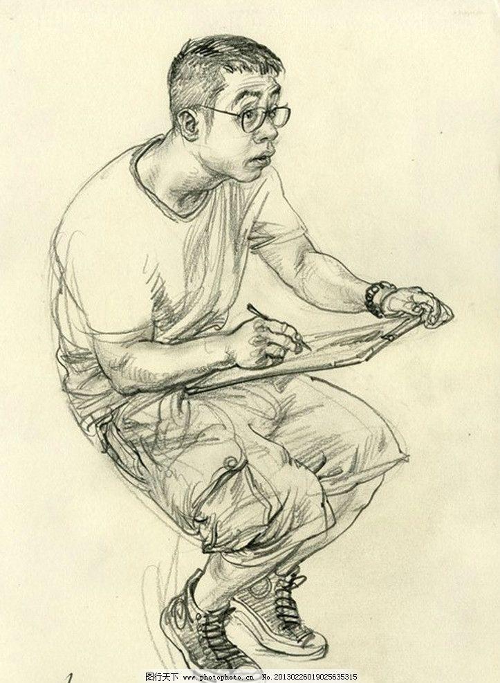 速写 人物 黑白 于小冬 素描 铅笔画 绘画书法 文化艺术 设计 300dpi