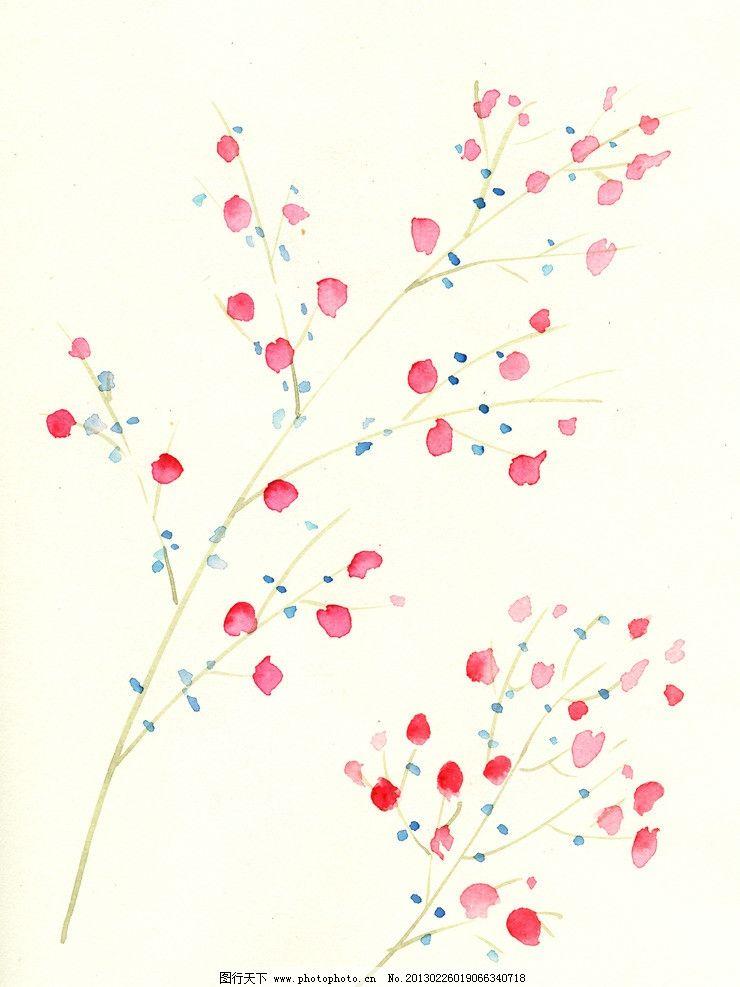 手绘花卉 手绘 花朵 花卉 绘画书法 文化艺术 设计 300dpi jpg