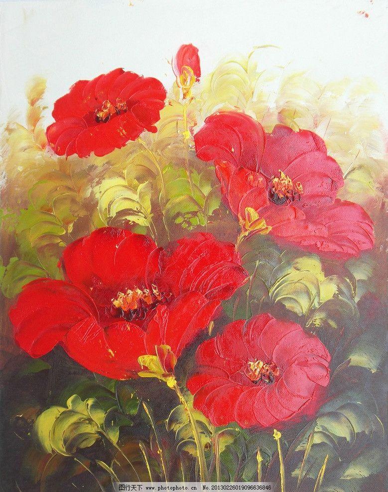欧式油画 花卉 竖版