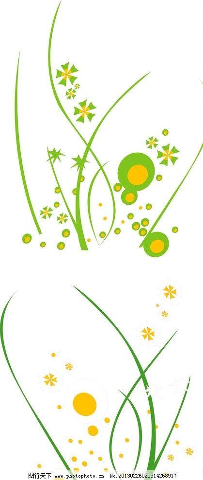 花 草 花藤 花朵 藤条 花纹 花边 绿色 春天 花纹花边 底纹边框 矢量
