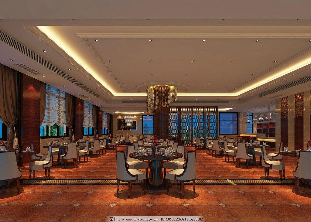 中餐厅 酒店餐厅 大厅 大堂 中式酒店 仿古砖 仿古砖拼花 酒店地面