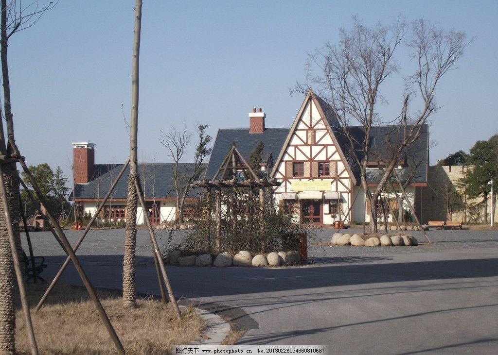 欧式建筑 风景 田园 城堡 风光 摄影