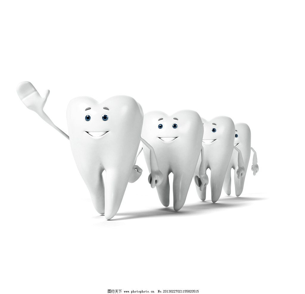 牙齿3d小人 可爱