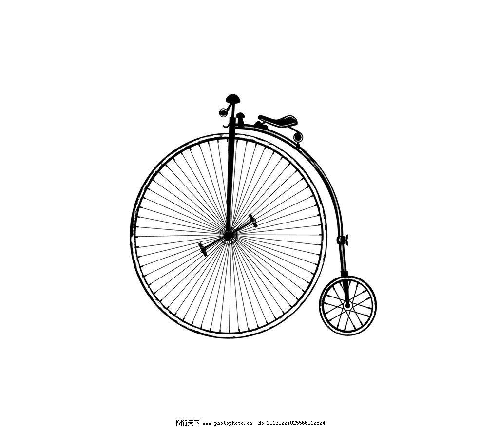 自行车 独轮车 杂技 单车 线描 手绘 线条 车轮 生活用品 生活百科