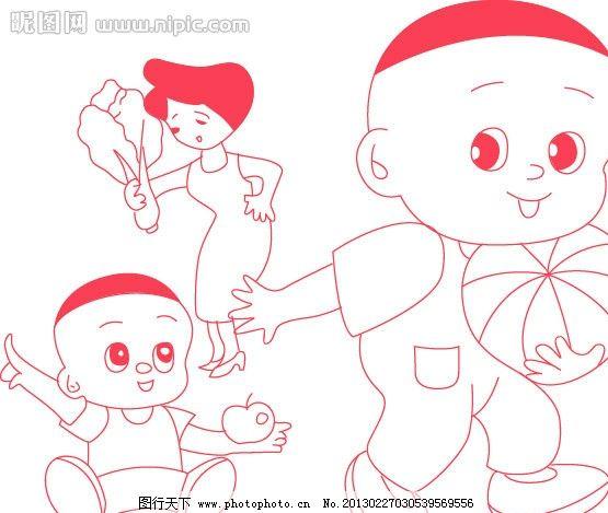 卡通 大头儿子 大头儿子小头爸爸 画动 可爱 矢量人物 儿童幼儿 矢量