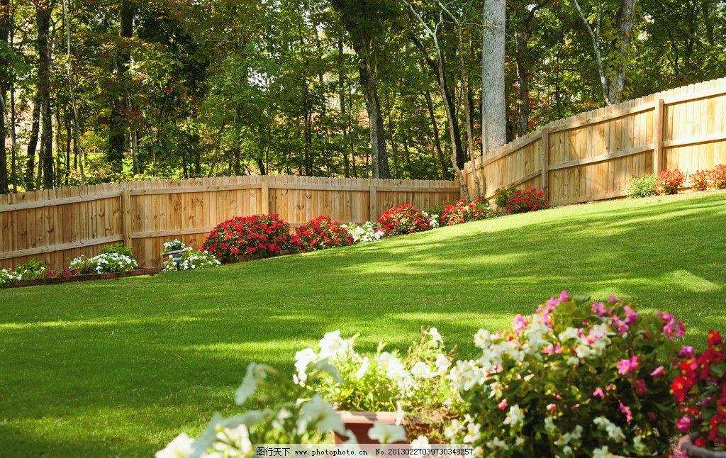 房地产 欧式别墅 庭院 花园 墙板 围挡 木栅栏 木墙 园林 护墙板 护栏