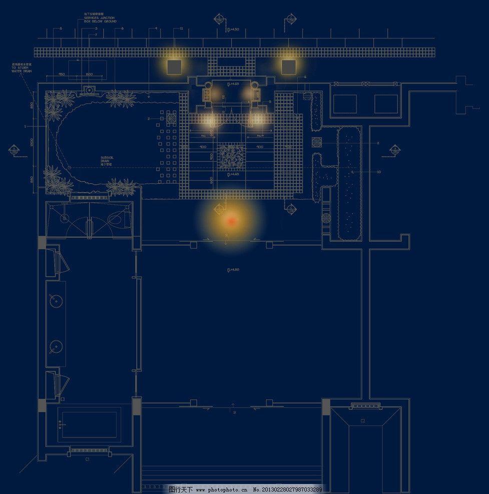 中式酒店 灯光效果图片