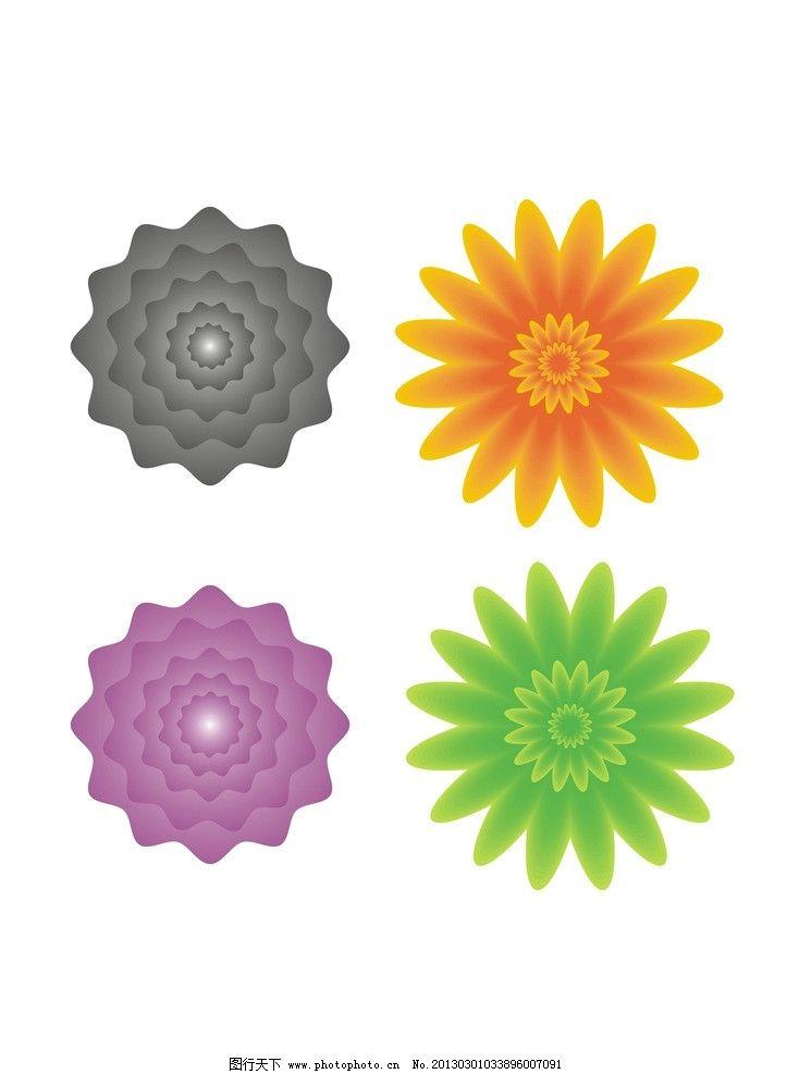 花朵 花 矢量 素材 装饰品 向日葵 矢量花 cdr 渐变 矢量素材 其他