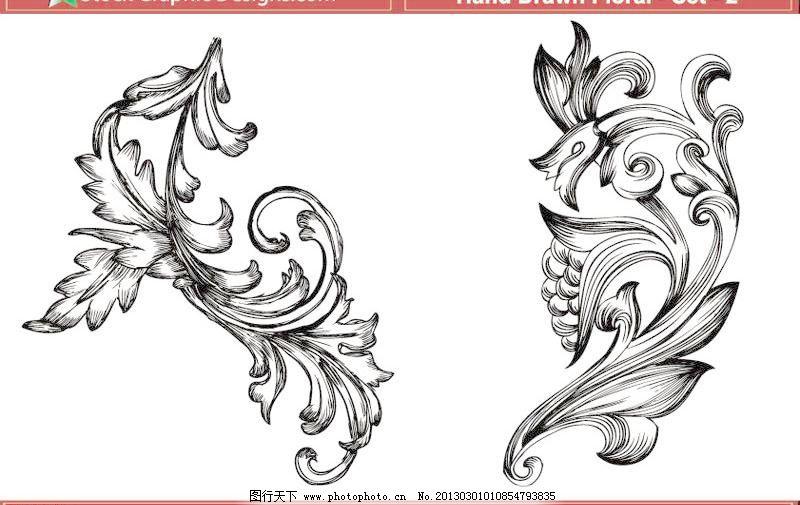 抽象 底纹 底纹边框 古典花纹 花朵 花纹 花纹花边 浪花 欧式花纹矢量