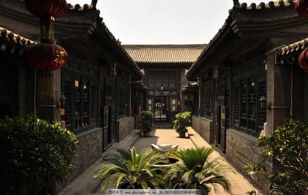 庭院 建筑 古代建筑 人家 传统 小院 绿植 大户 大院 摄影 国内旅游