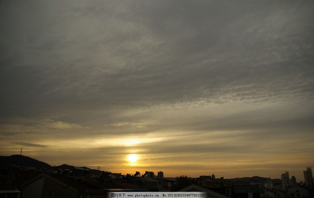 落日 夕阳 晚霞 余晖 自然风景 自然景观 摄影 72dpi jpg