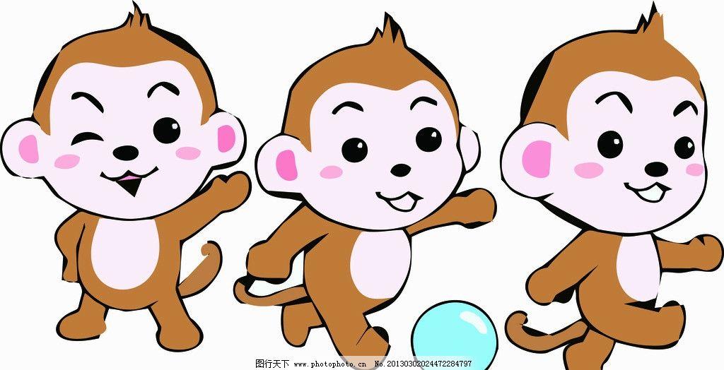 矢量小猴子图片