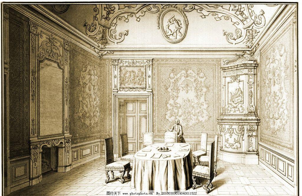 欧式餐厅 餐厅 贵族餐厅 星级酒店 晚餐 餐桌 西方餐厅 贵族 欧式壁画