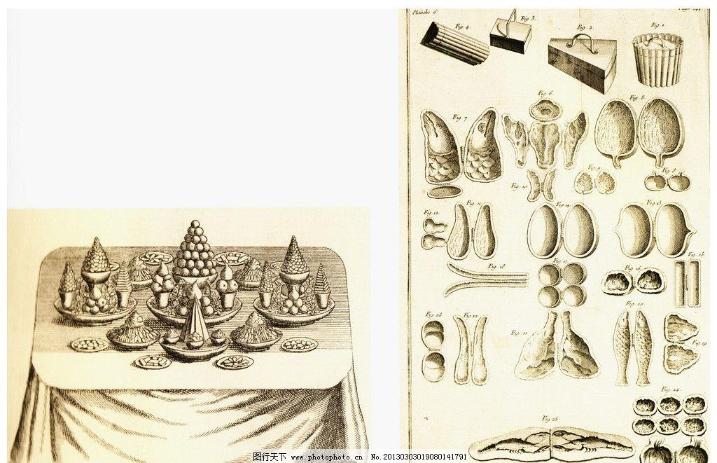 食物素描图片