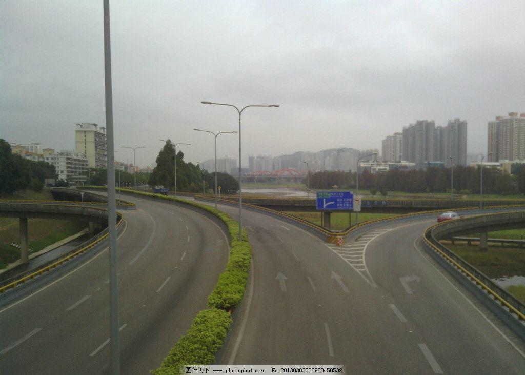 公路 三岔路 城市马路 摄影 国内旅游 旅游摄影图片